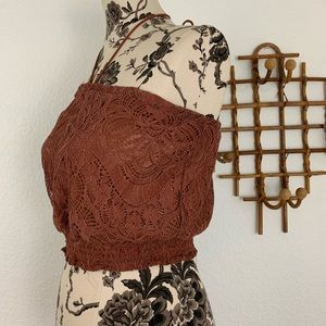 H&M Tops - H&M NWT Lace Halter Crop Top